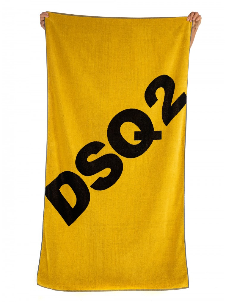 Dsquared Towel 100cm x 185 cm-Yellow