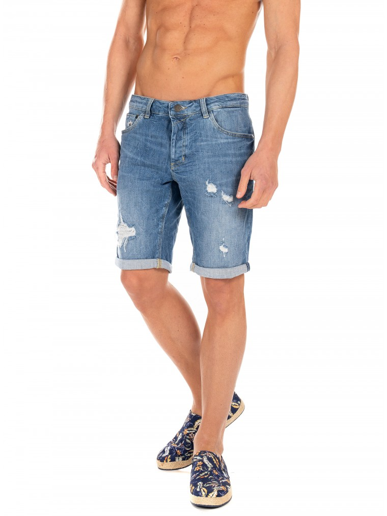 Gabba Shorts Jason K1819 Lt-Dark Aged Denim