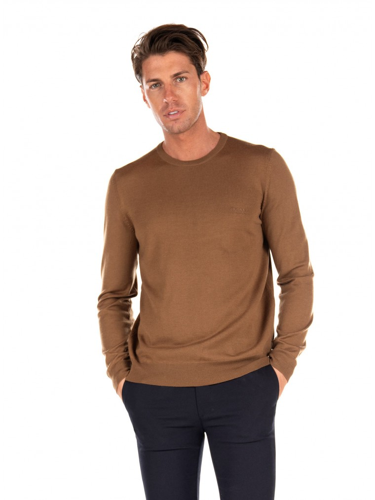 Boss  Virgin Wool Knit Botto-L-Brown
