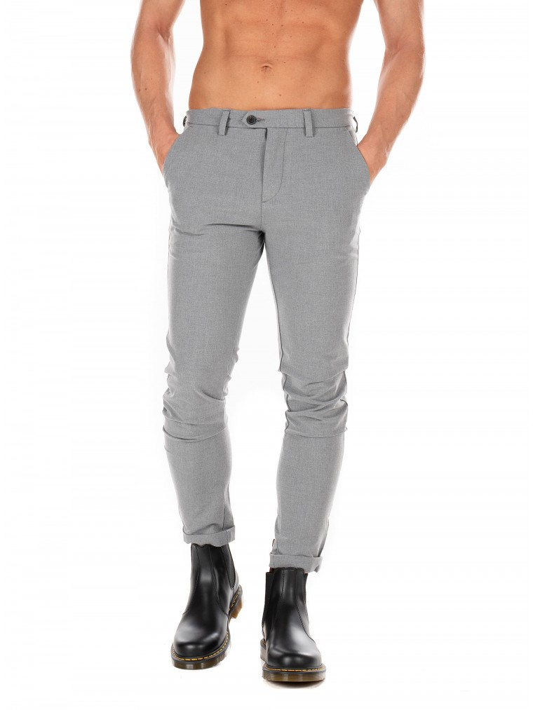 Jack & Jones Pants Marco Connor-Light Grey Melange