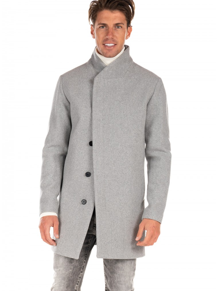 Jack & Jones Coat Collum-Light Grey Melange