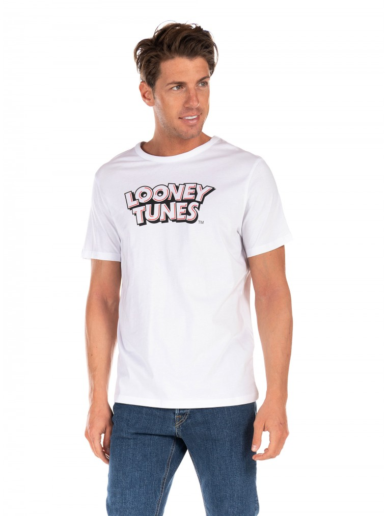 Jack & Jones T-Shirt Looney-White