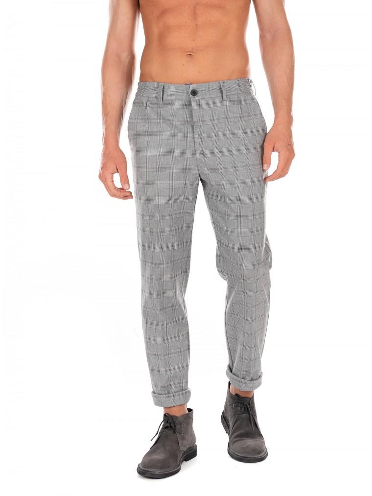 Les Deux Pants Pino-Light Grey Melange