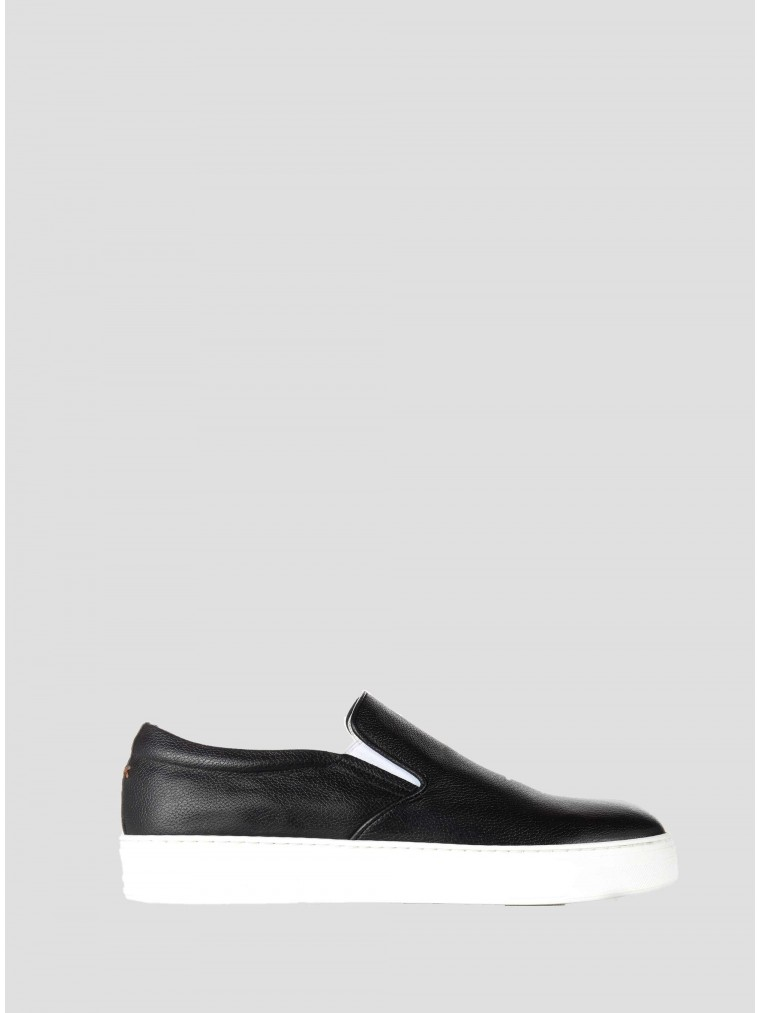Per La Moda Slip On Shoes-Black
