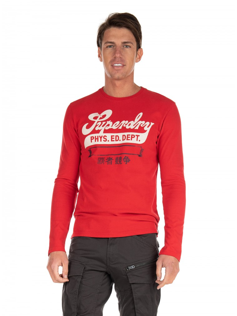 Superdry Collegiate Graphic Blouse-Red
