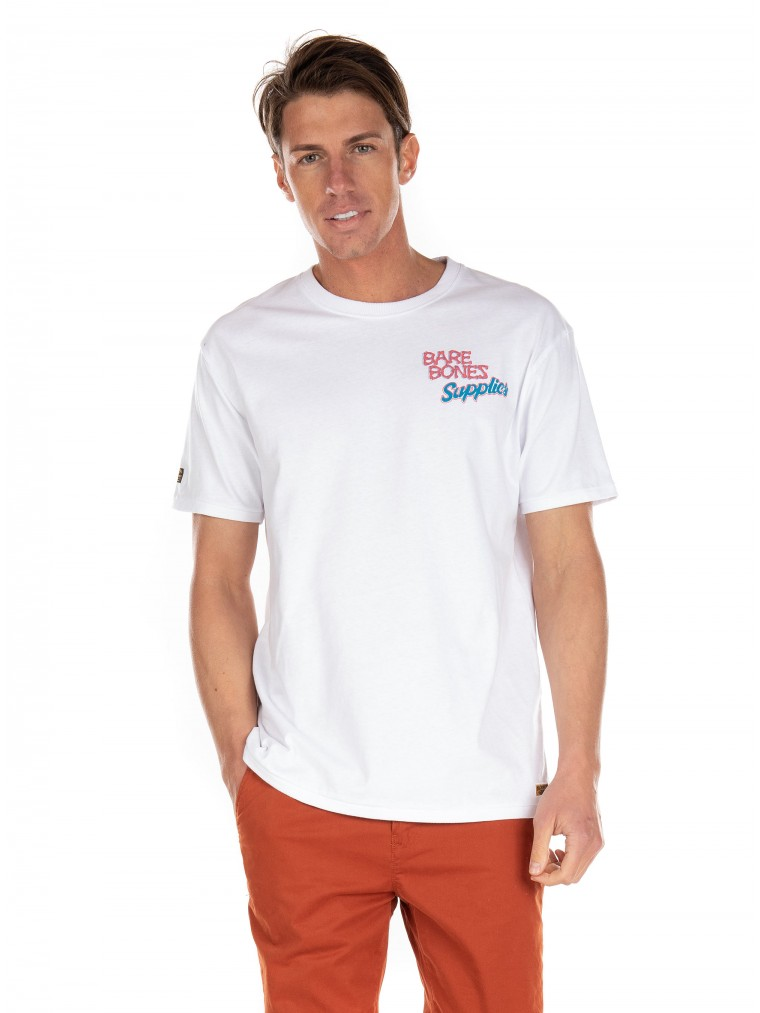 Superdry Workwear Box Fit T-Shirt-White