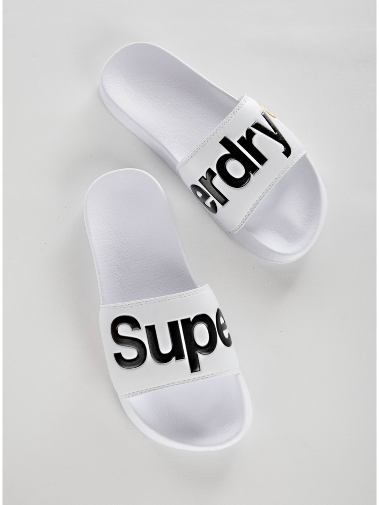 Superdry Pool Slides-White