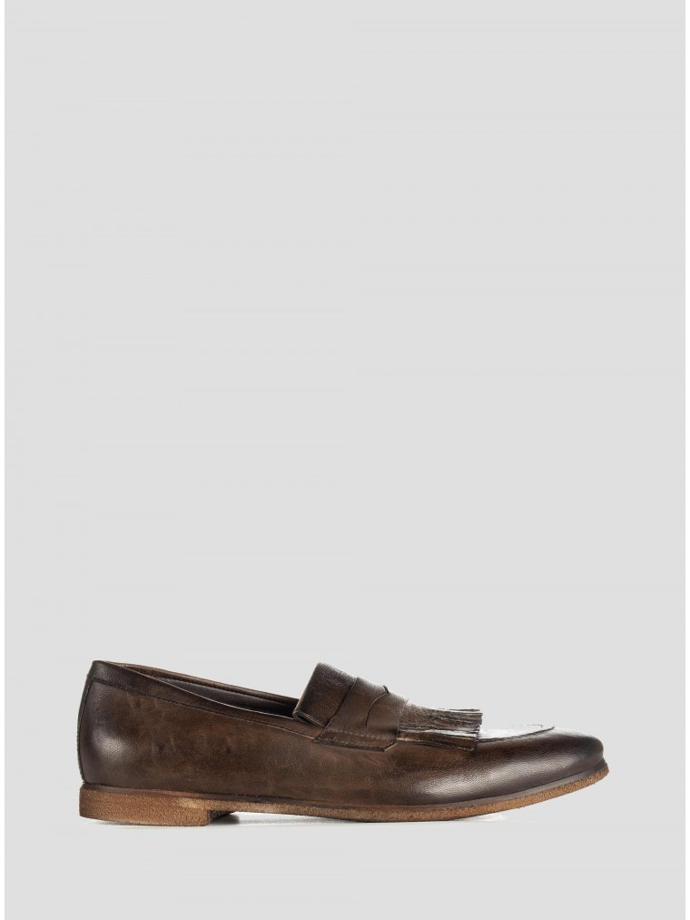 Wow Leather Loafers-Brown