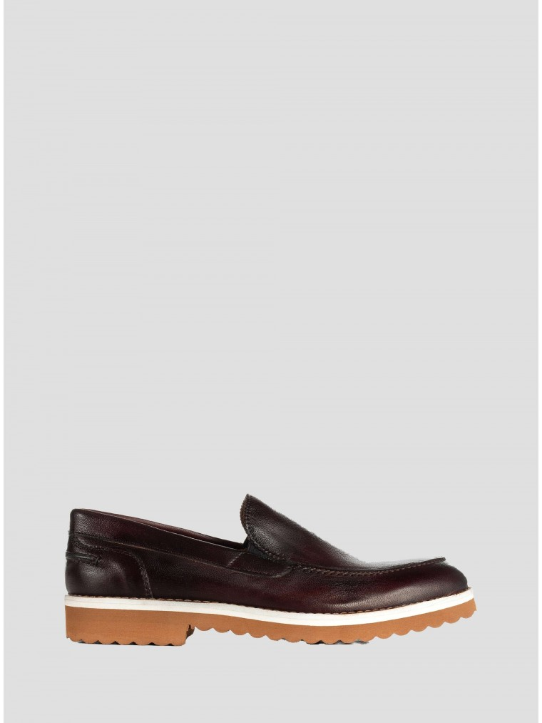 Wow Leather Loafers-Bordeaux