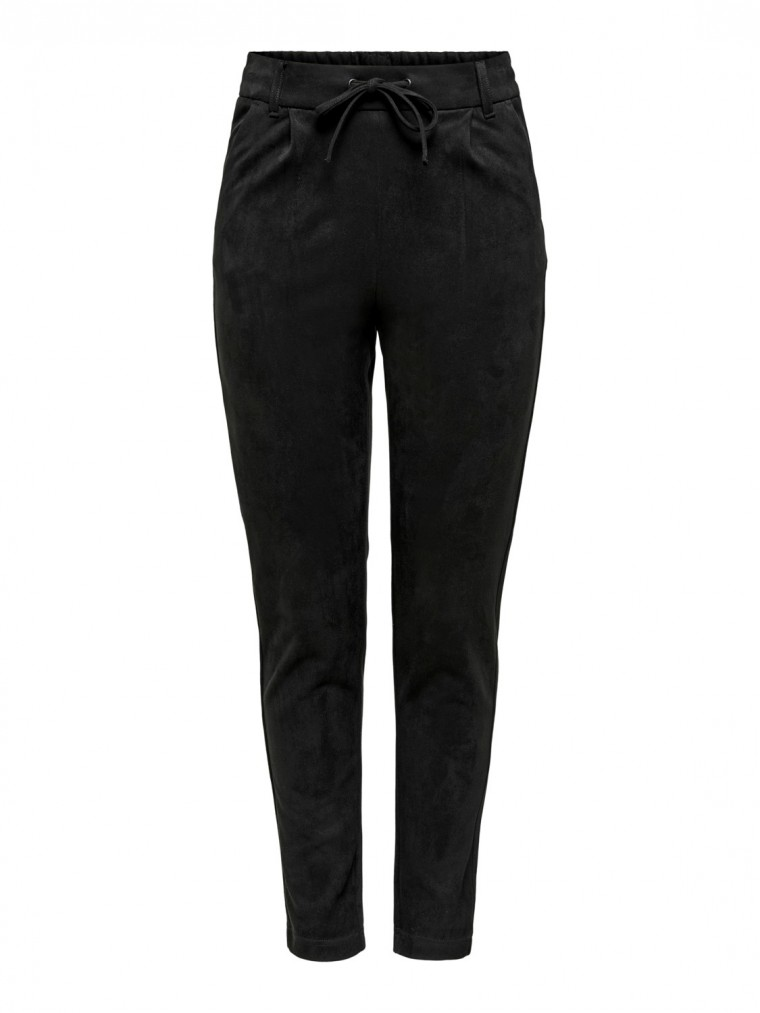 Only Faux Suede Pants Poptrash-Black