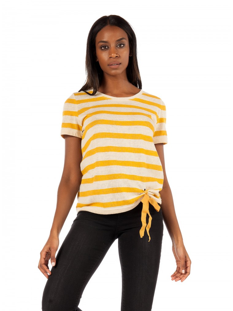 Only T-Shirt Rill-Yellow