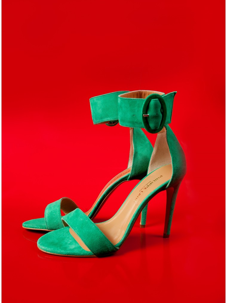 Philippe Lang Heel Sandals-Green