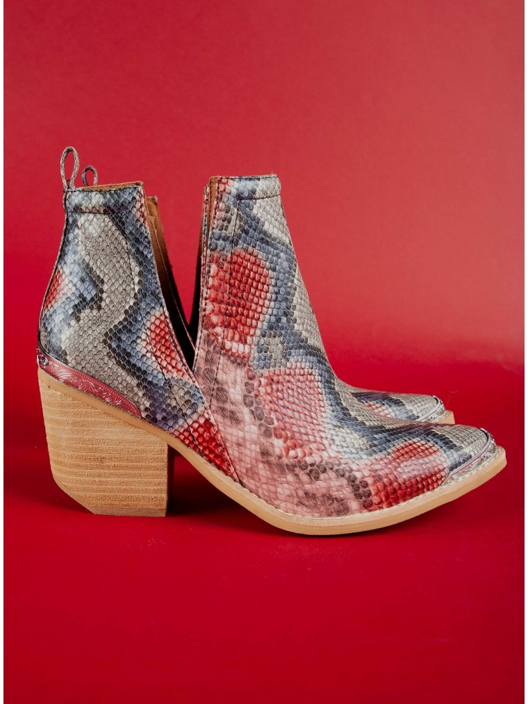 Jeffrey Campbell Ankle Boots Cromwell Snk-Red