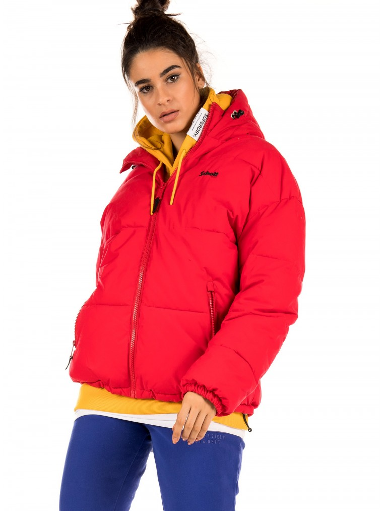 Schott Padded Jacket Jktalaska-Red