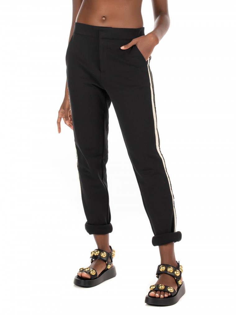 Maison Scotch Sweat Pants-Black