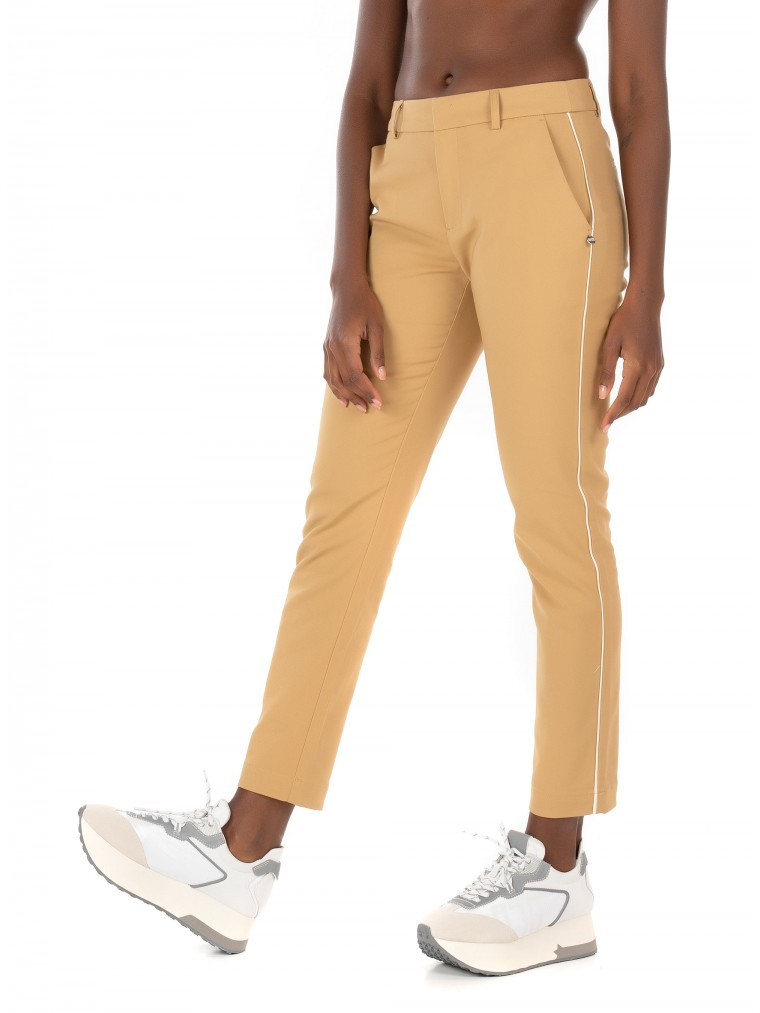 Maison Scotch Tailored Stretch Pants-Camel