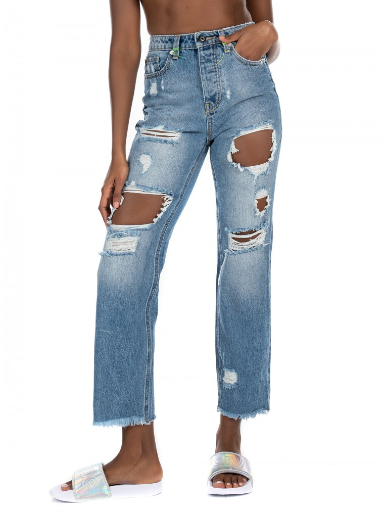 Only High Waist Ankle Jeans Roxy-Dark Aged Denim
