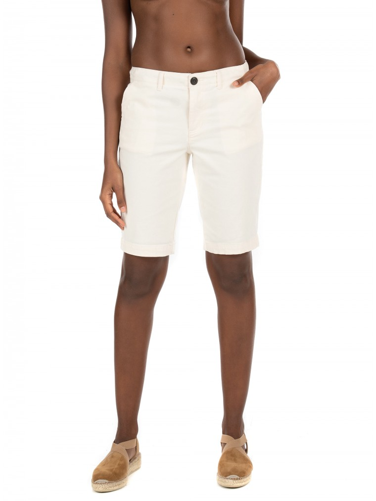 Superdry City Chino Shorts-Off White