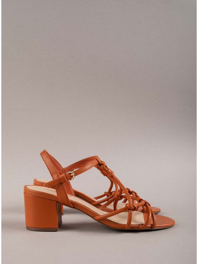 Arezzo Heeled Sandals-Brick Brown