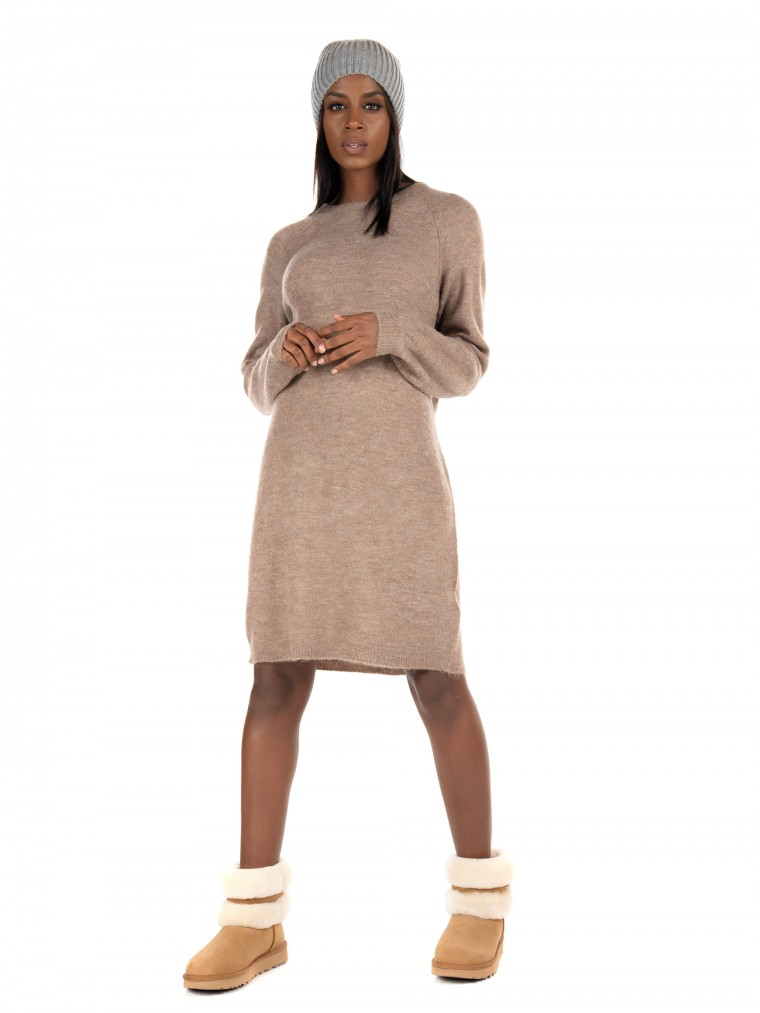 Only Knitted Dress Janny-Brown