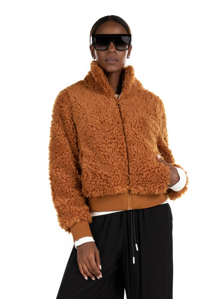 Only Sherpa Bomber Jacket Ellie-Rust