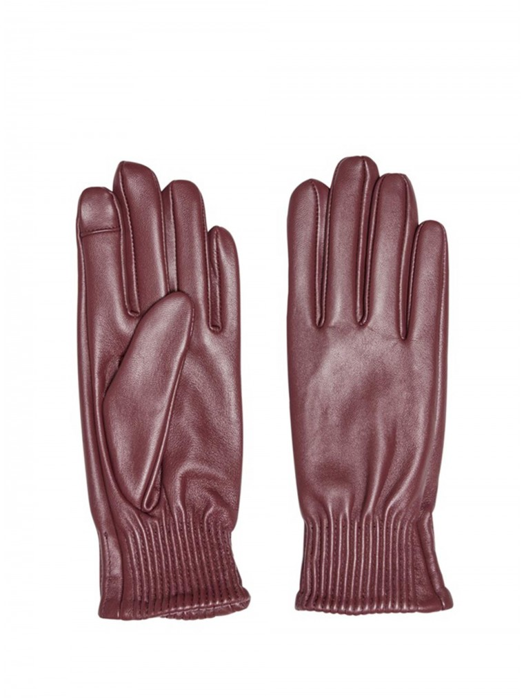 Only Leather Gloves Nora-Bordeaux