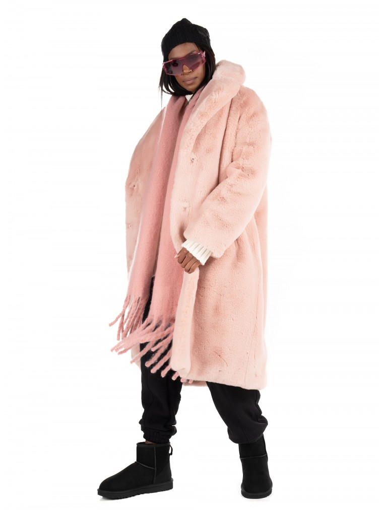 Jakke Faux Long Fur Katie-Pink