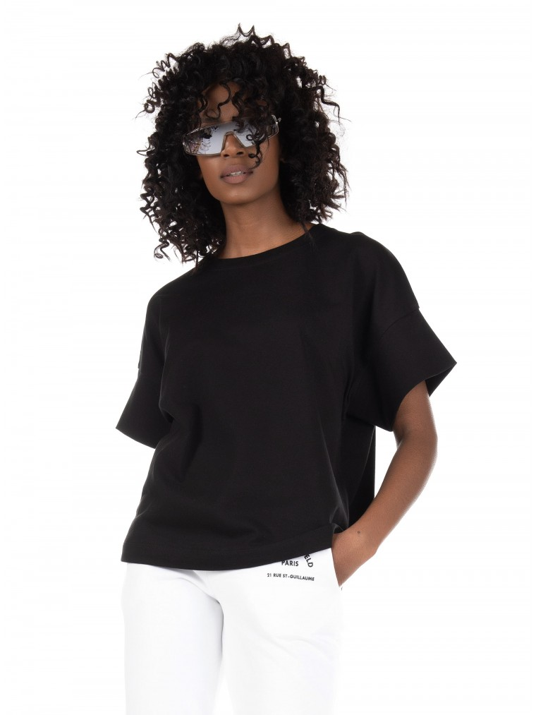 Karl Lagerfeld Relaxed Fit T-Shirt-Black