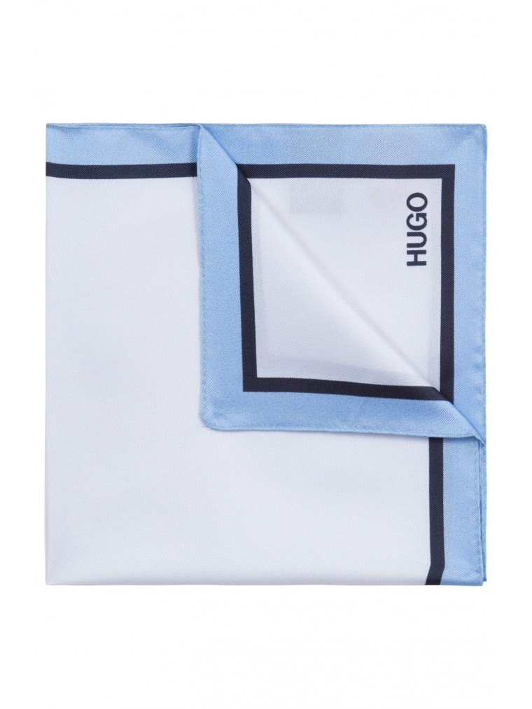 Hugo Pocket Square-Light Blue