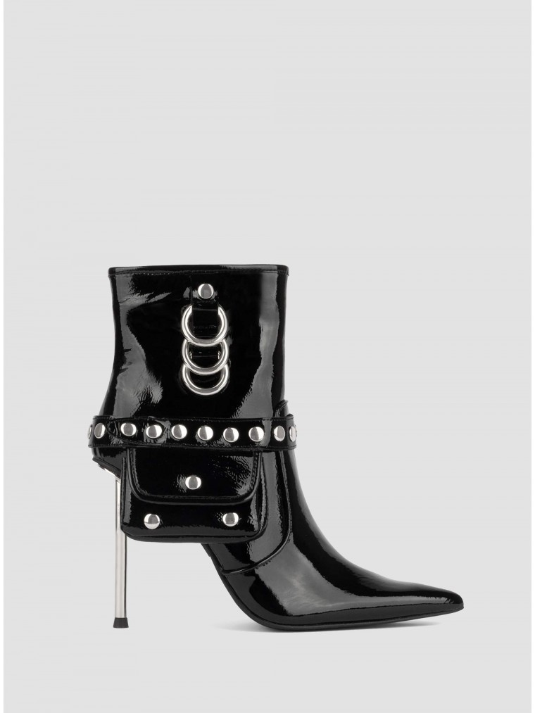 Jeffrey Campbell Ankle Boots Stash-Black