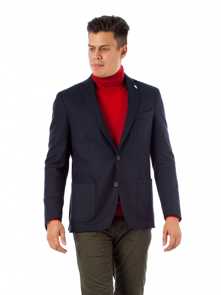 7 Square Blazer Solivagant-Blue