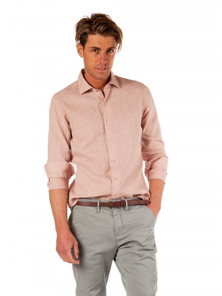 Brouback Linen Shirt-Light Salmon