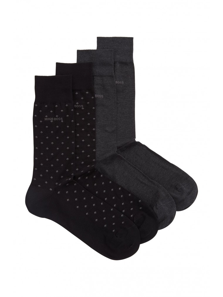 Boss 2-pack Socks RS Minipattern MC-Black