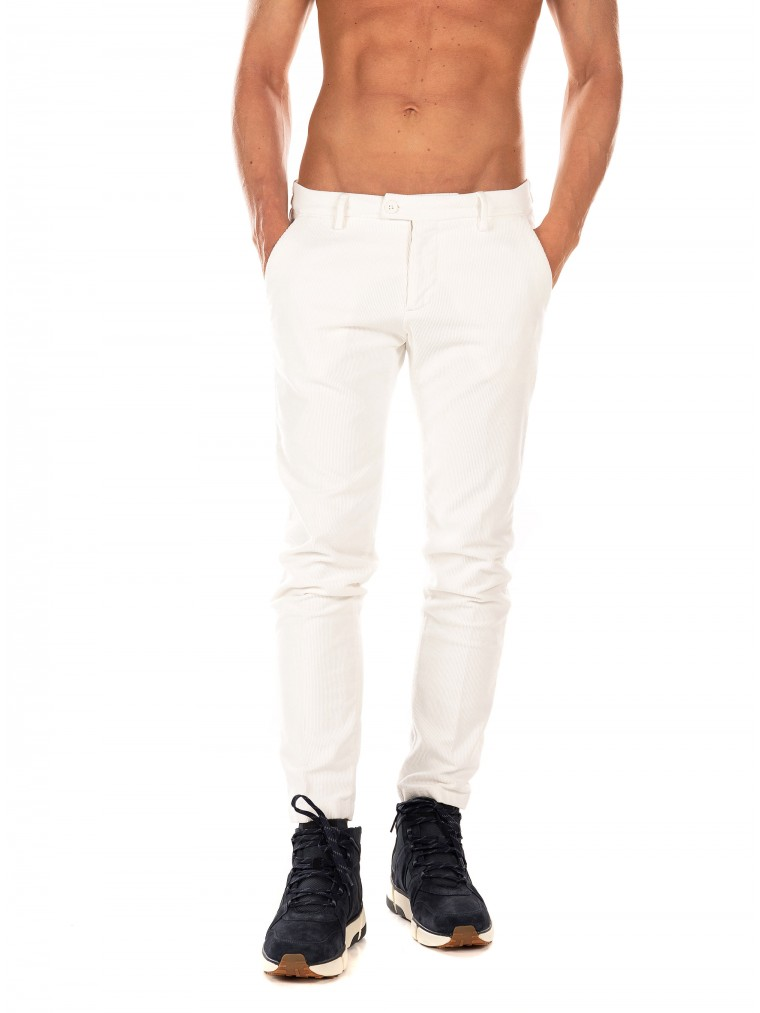 Paul MIRANTA Corduroy Pants-White