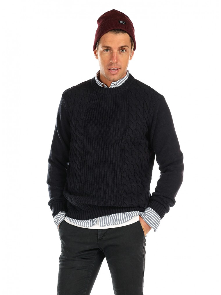 Tiffosi Knit Coffman-Blue
