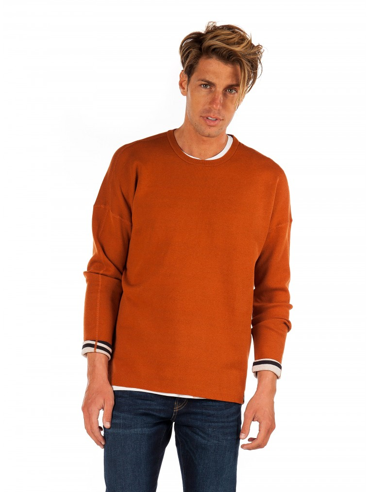 Scotch & Soda Reversible Knit-Rust Brown