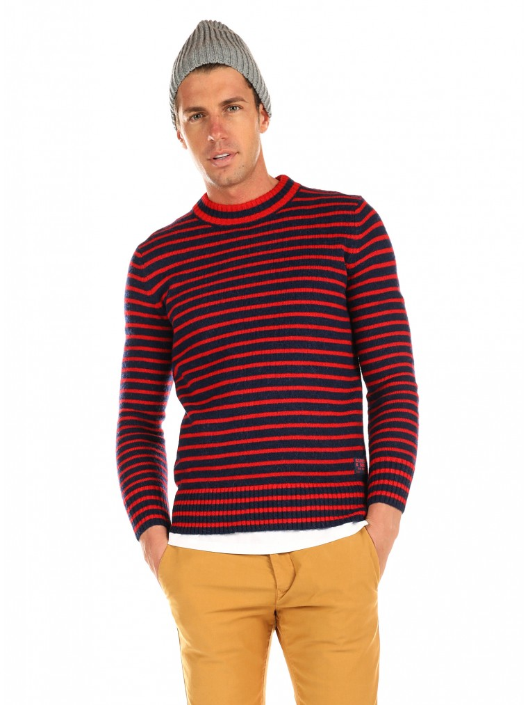 Scotch & Soda Breton Stripe Knit-Blue