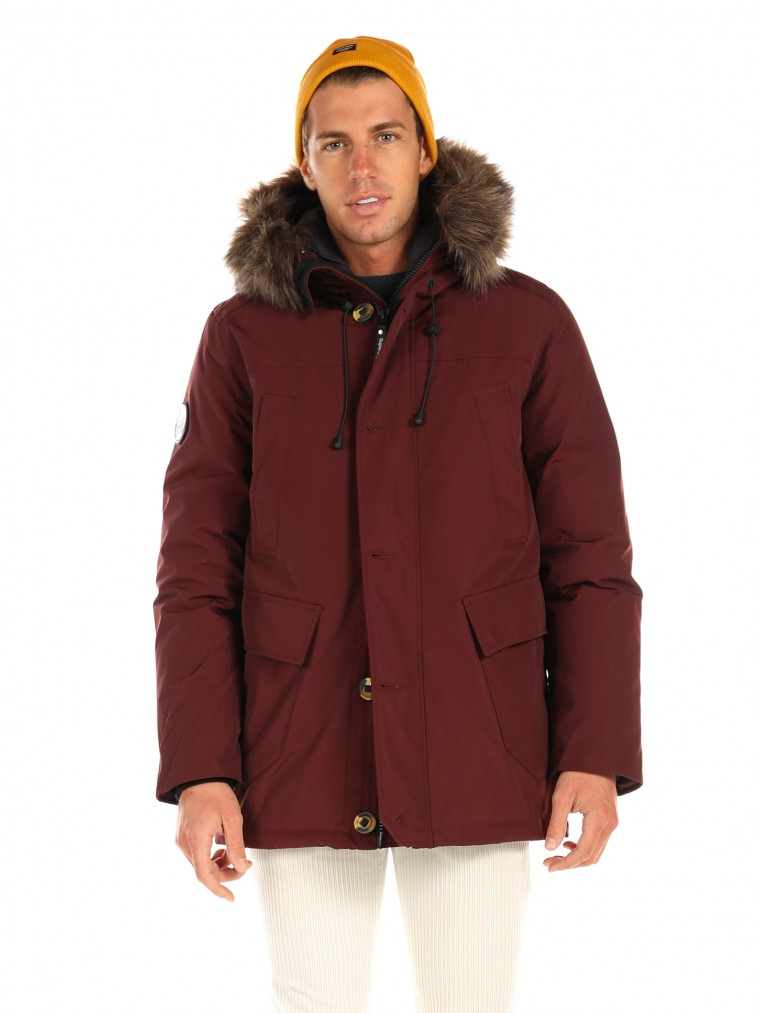 Superdry Rookie Down Parka Jacket-Bordeaux