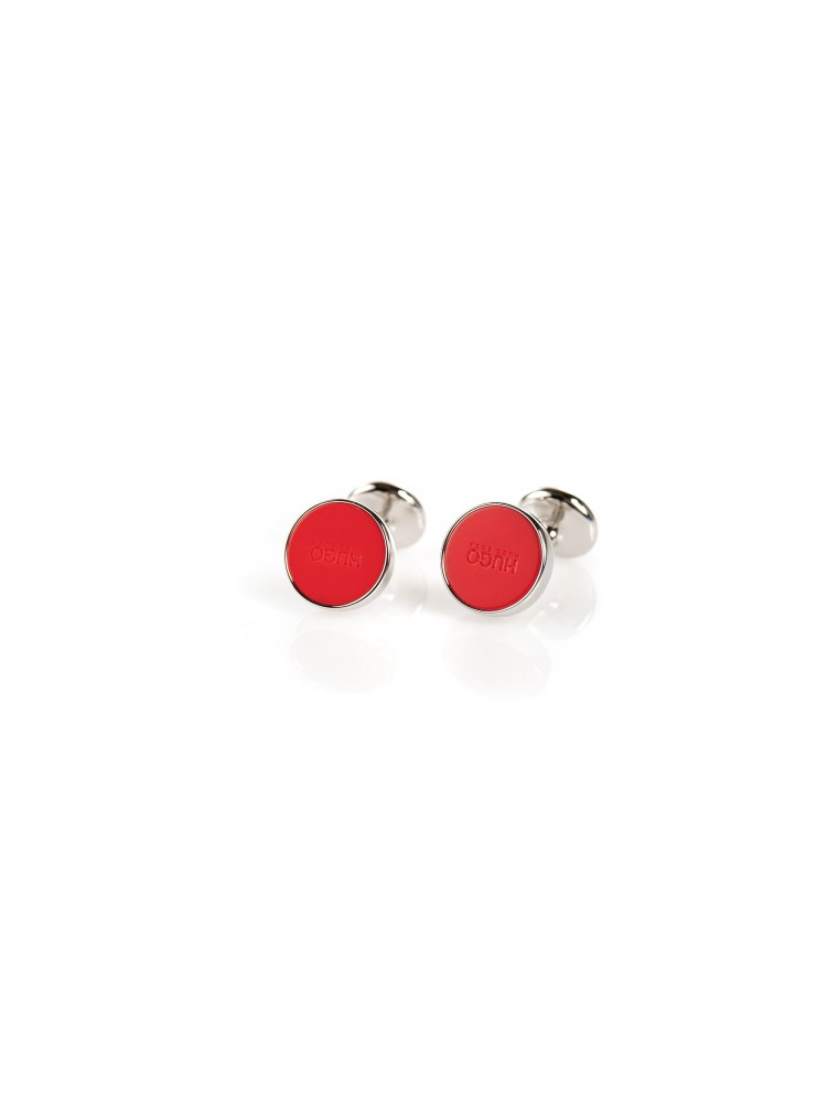 Hugo Cufflinks E-Color-Red