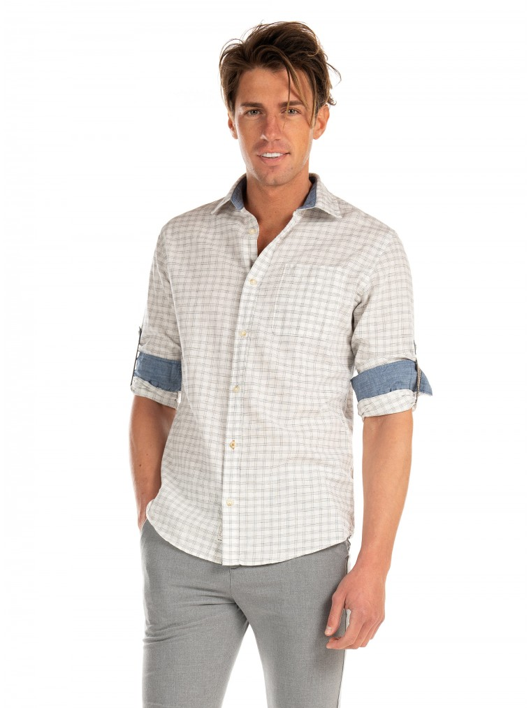 Premium by Jack & Jones Shirt Blu Summer Preston-Off White