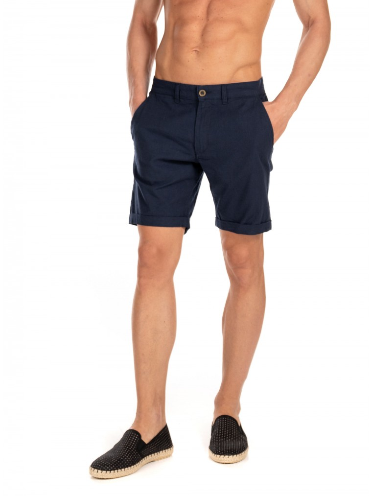 Jack & Jones Linen Chino Shorts -Blue
