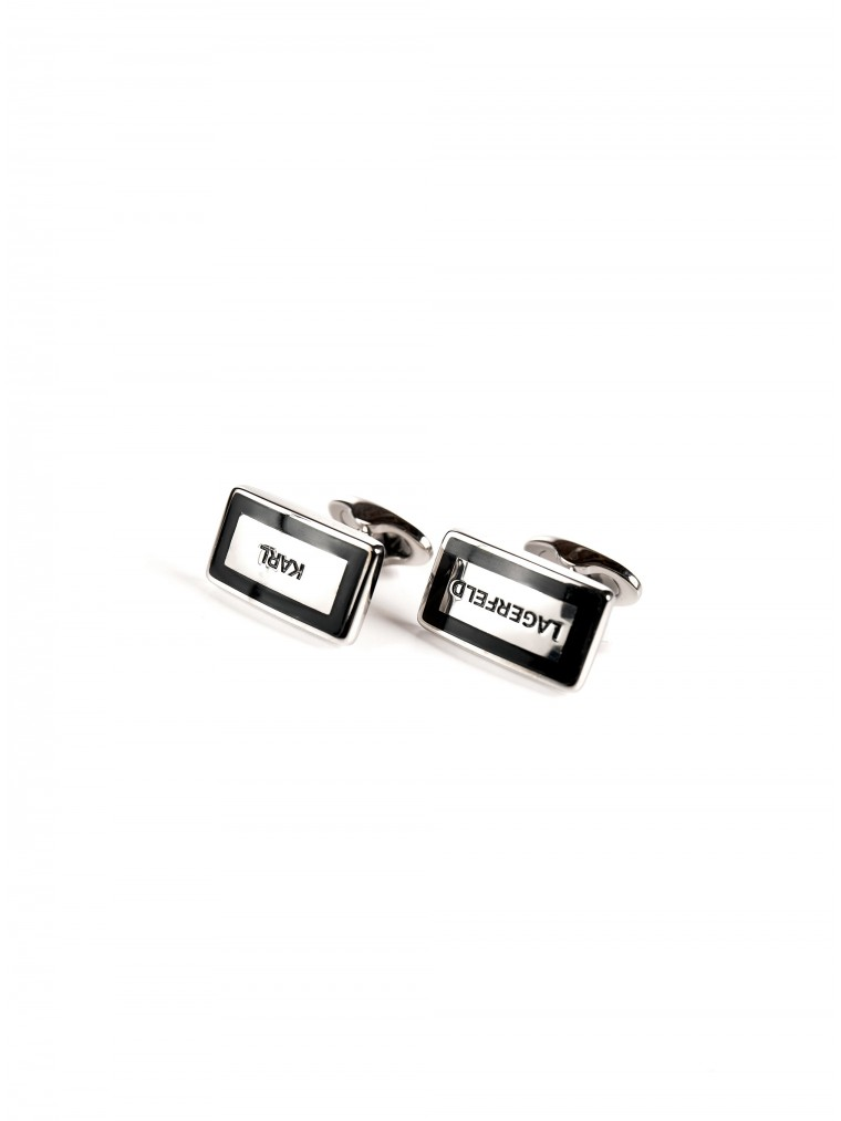 Karl Lagerfeld Cufflinks-Black