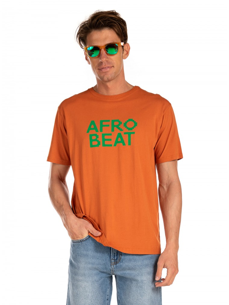 Thinking Mu T-Shirt Afro Beat-Brick Brown
