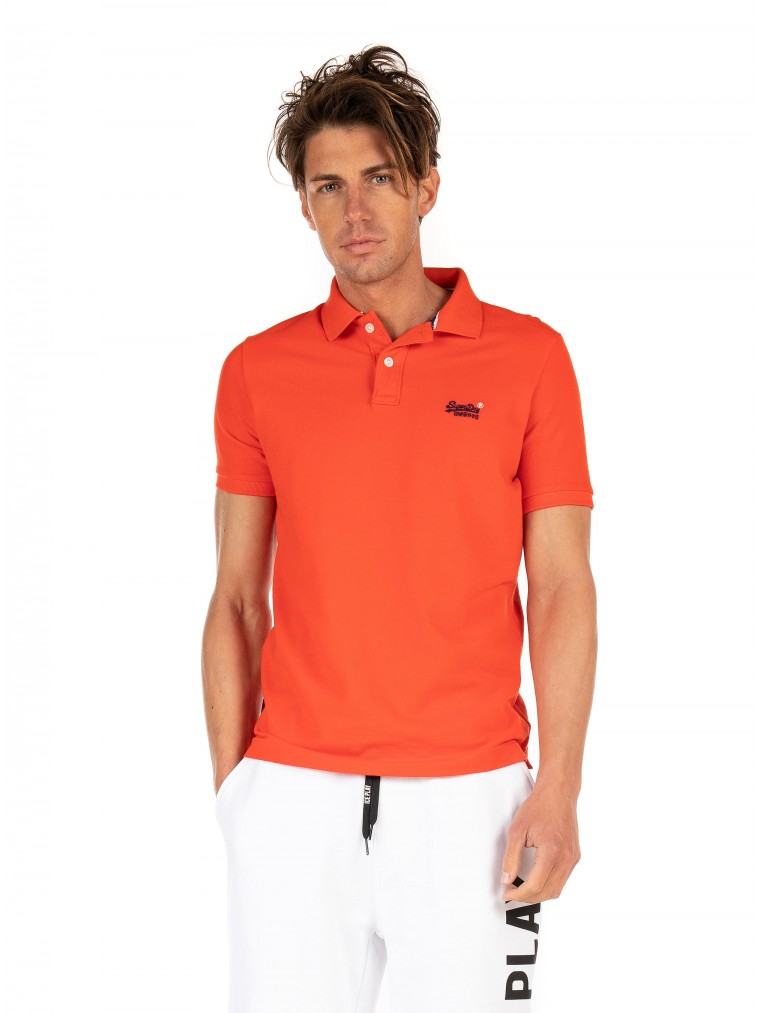 Superdry Classic Pique Polo Shirt-Red