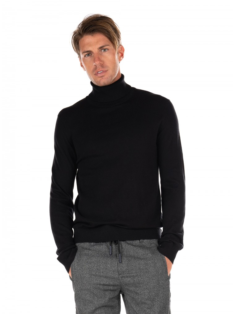 Jack & Jones Rollneck Knit Emil-Black