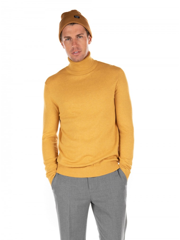 Jack & Jones Rollneck Knit Emil-Mustard