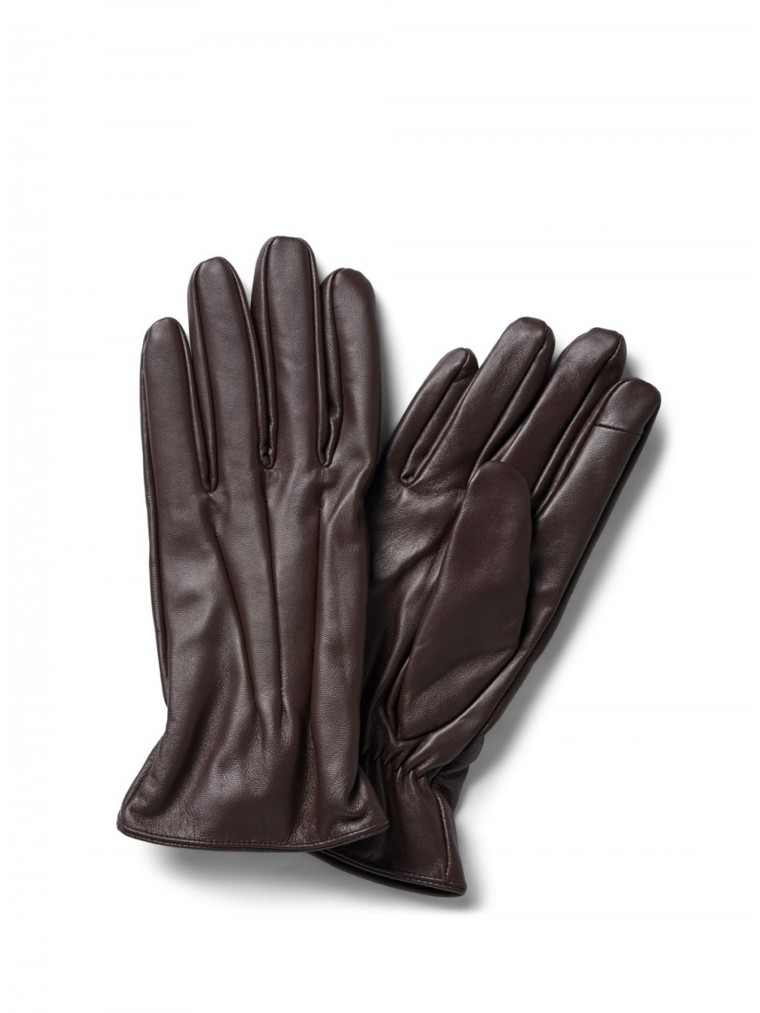 Jack & Jones Leather Gloves-Brown