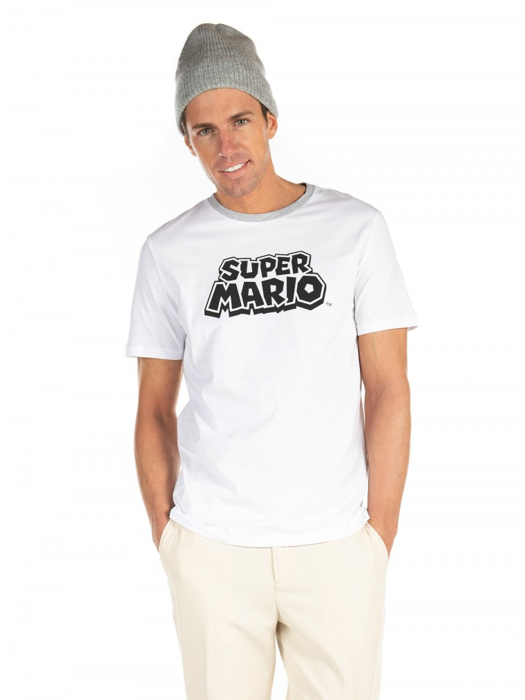 Jack & Jones T-Shirt Super Mario-White