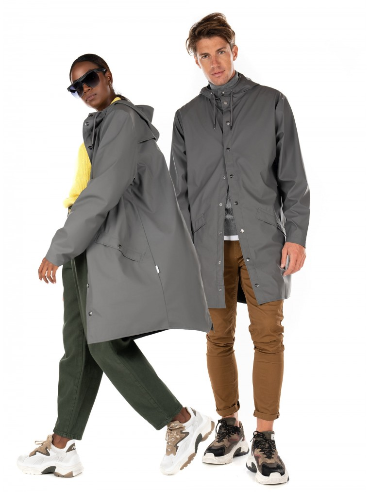 Rains UNISEX Long Jacket-Grey