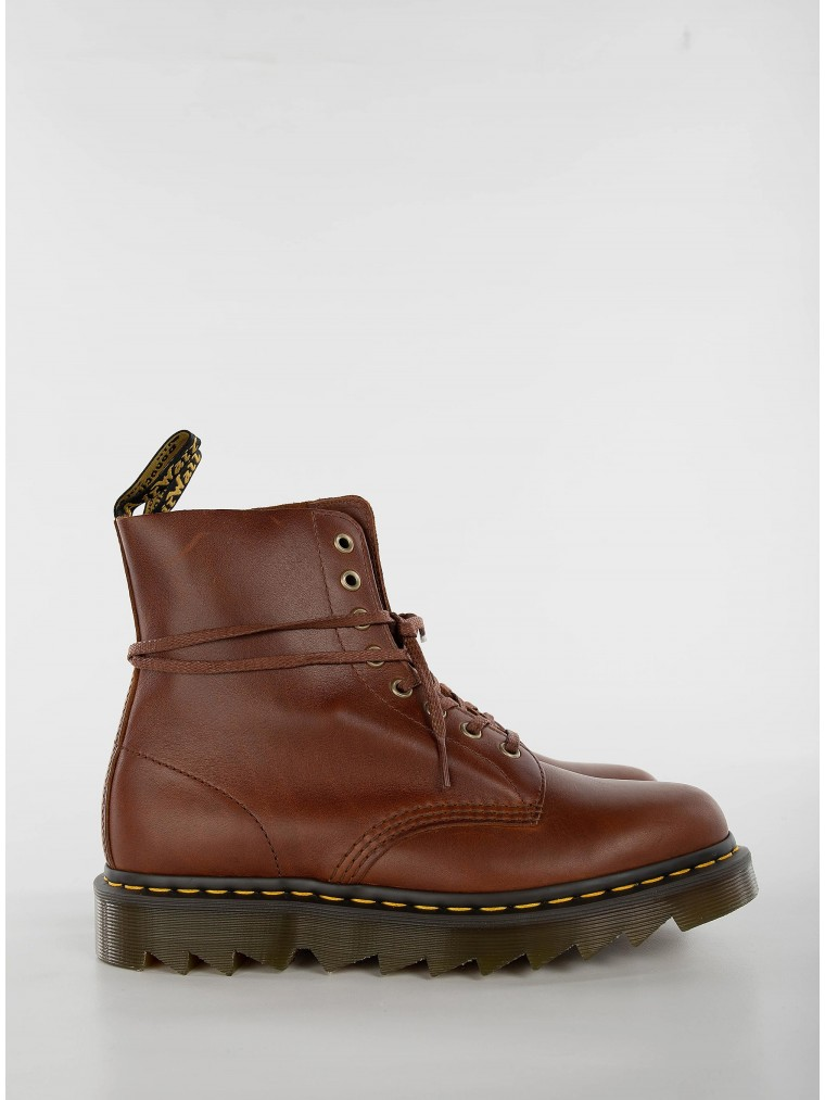 Dr Martens 1460 Pascal Ziggy Leather Boots-Rust Brown